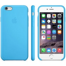 Чехол силиконовый Apple Silicone Case Sea Blue для iPhone 6/6S Plus